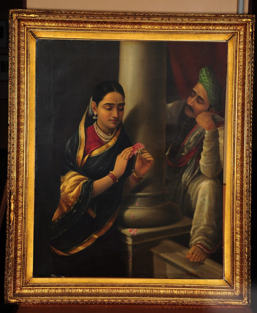 Stolen Interview, part of Raja Ravi Varma paintings collection