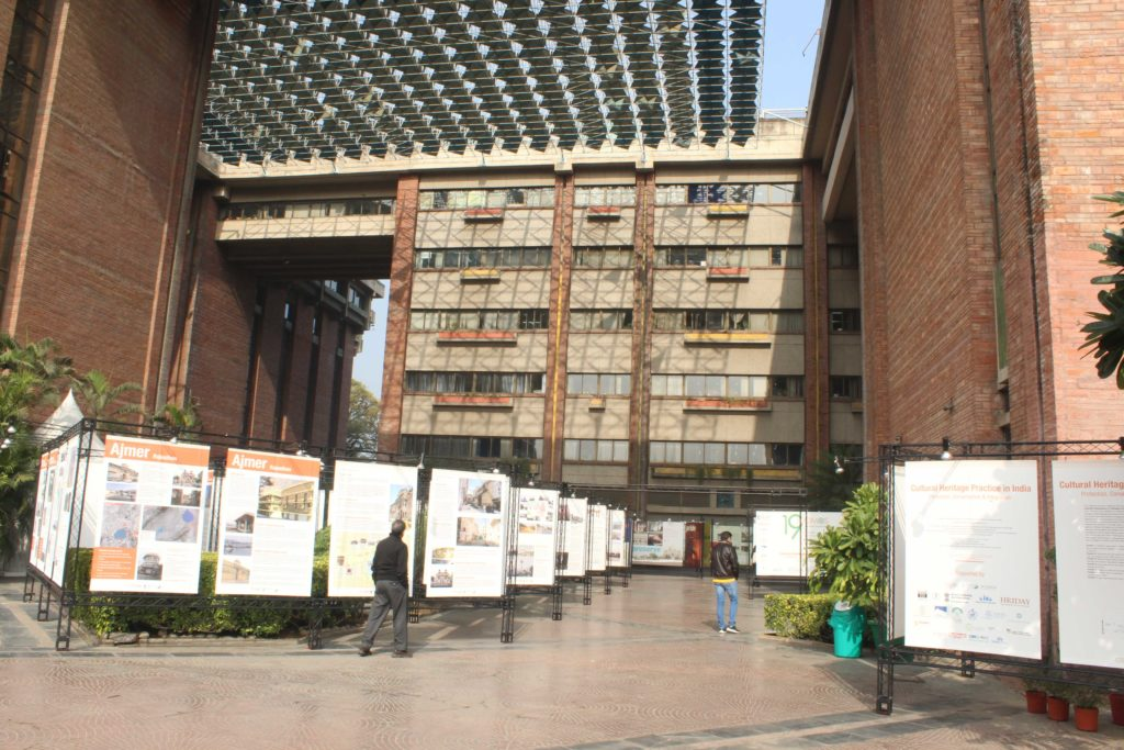 Exhibition of Conservation works in India in the courtyards of India Habitat Centre