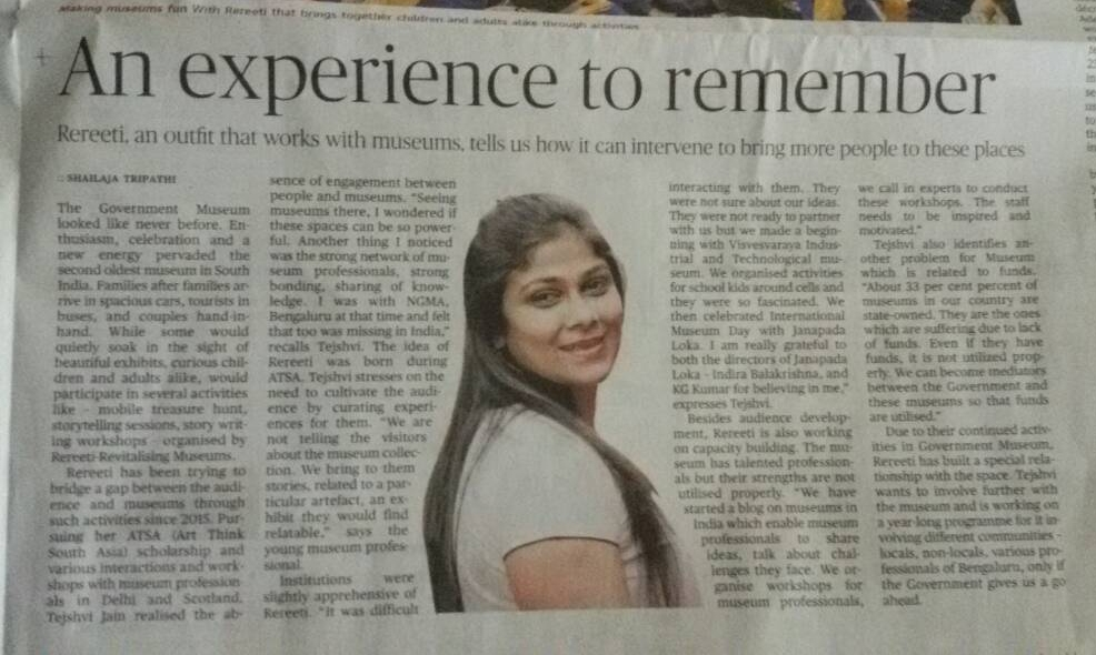 AN EXPERIENCE TO REMEMBER | THE HINDU, MAY 23, 2017