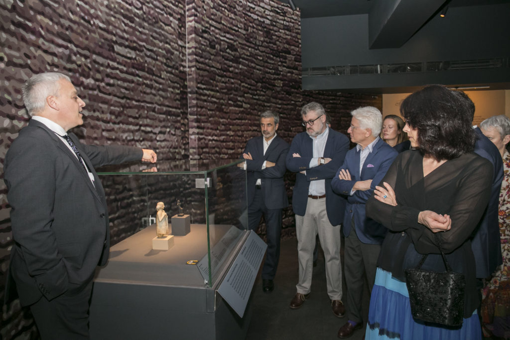 Visit of the Bizot Group of international museum directors to the 'India and the World: A History in Nine Stories' exhibition ©CSMVS, Mumbai