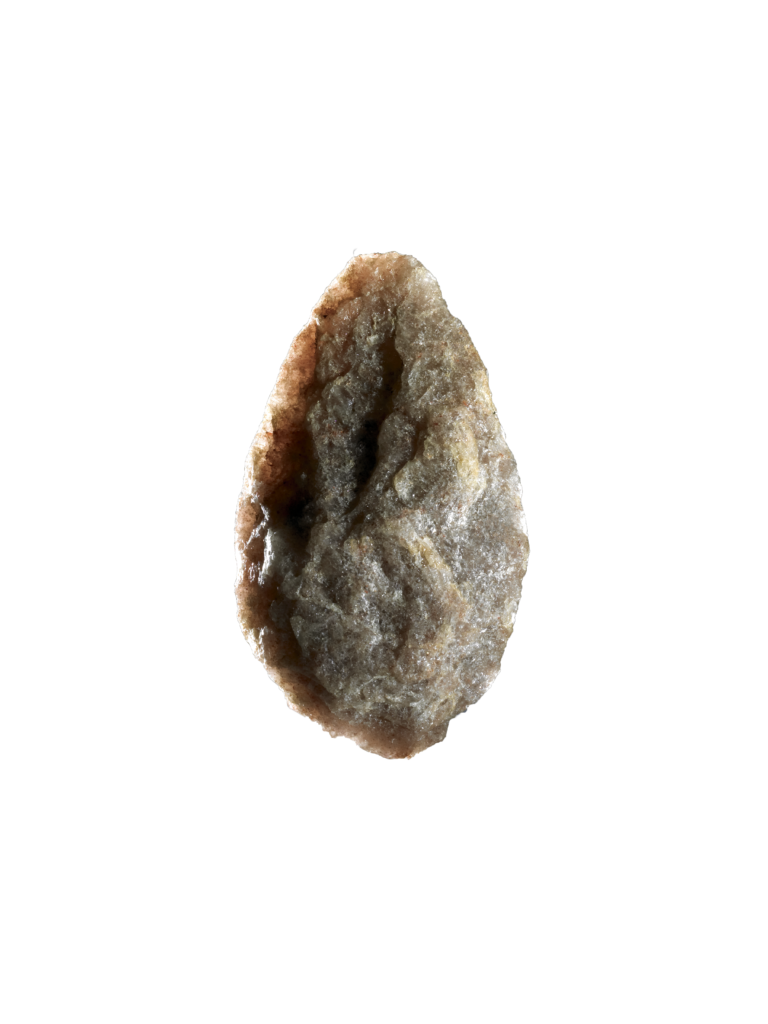 Olduvai handaxe, Quartz, 800,000 - 400,000 years old, Found in Olduvai Gorge, Tanzania ©The British Museum, London