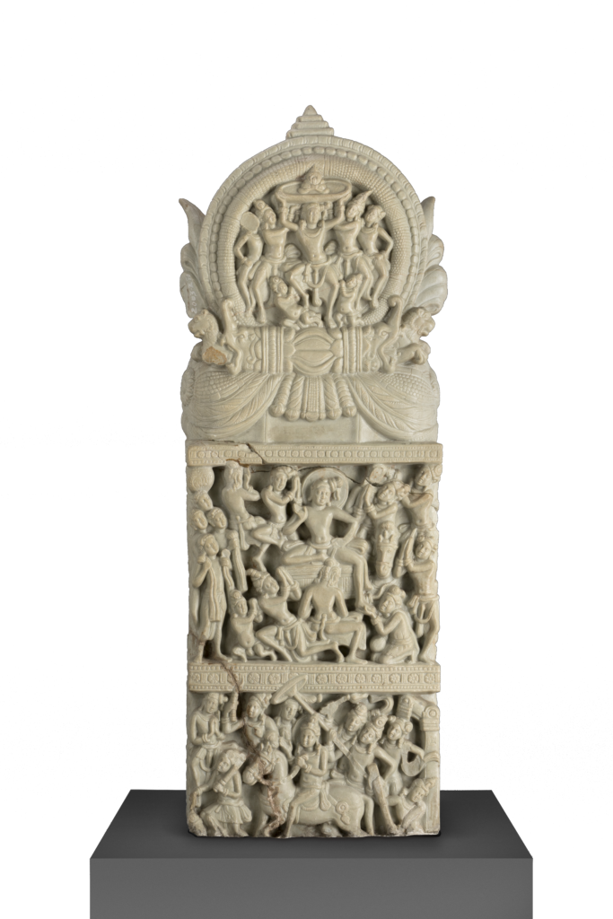 Festivities around the Relic of the Turban, Limestone, Satavahana - AD 150, Phanigiri, Telangana, India © Directorate of Archaeology and Museums, Government of Telangana
