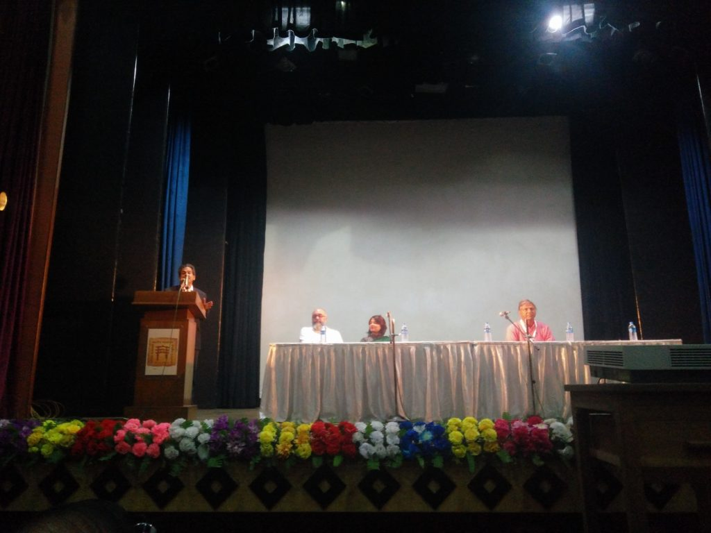 Mr. Rajesh Purohit, Director of Indian Museum Kolkata, addressing the group on the second day of the conference in Ashutosh Birth Centenary hall in Indian Museum Kolkata. Pic Credit: Koumudi Malladi