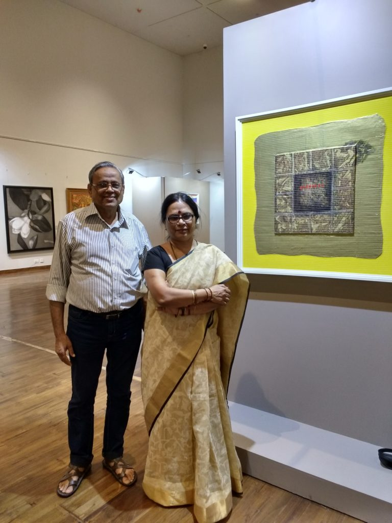 With Mr.Yusuf, Director of Bihar Museum along with his painting. Pic Credit: Mr . Sameer Kumar