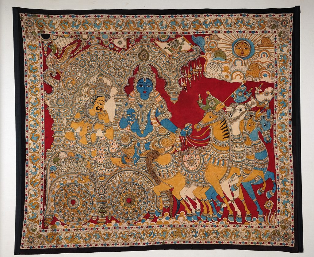 Kalamkari wall hanging from the textile gallery