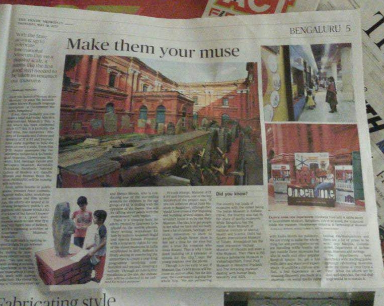 MAKE THEM YOUR MUSE | THE HINDU, METRO PLUS, MAY 18, 2017