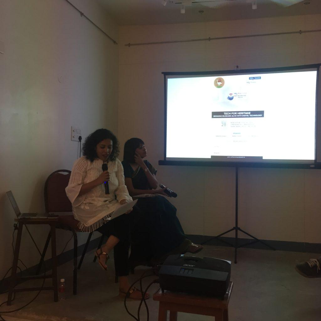 Mrinalini Venkateswaran, moderator of the session, introducing the panelists. Pic Credit: Sania Galundia