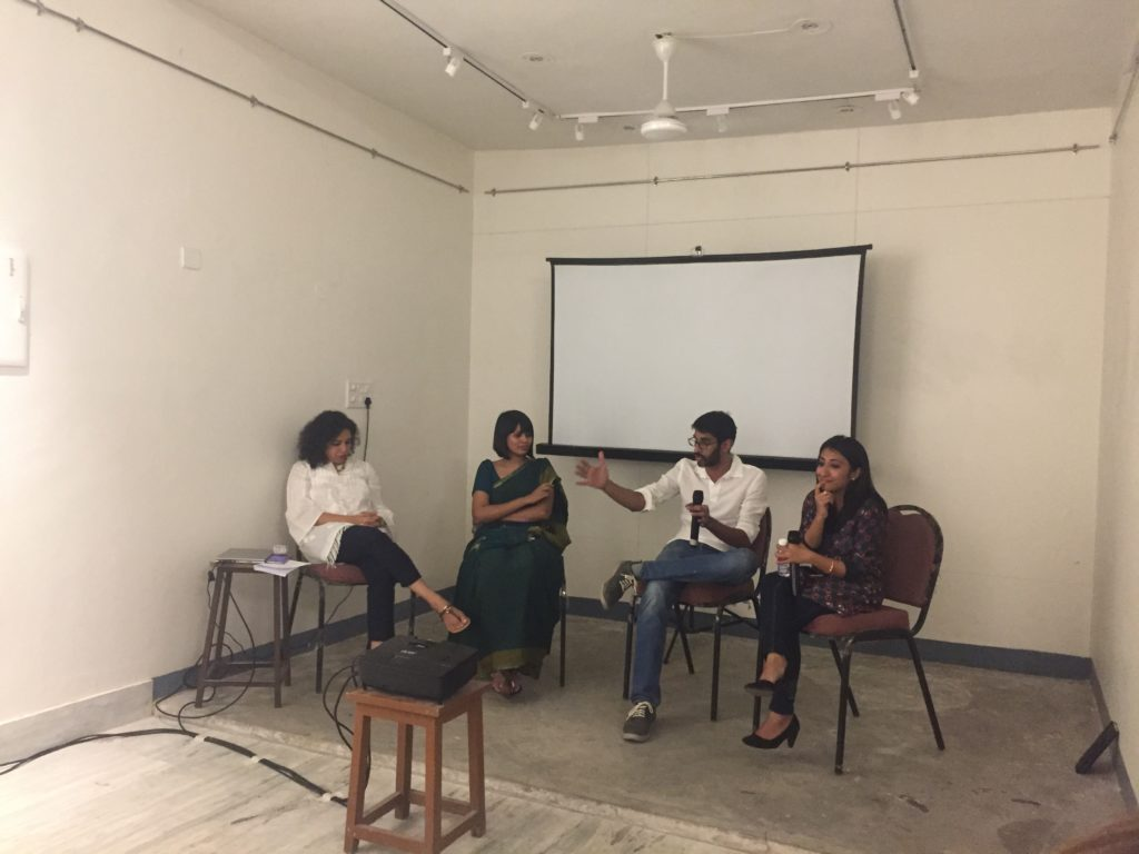 the panel responding to questions from the audience. Pic Credit: Sania Galundia