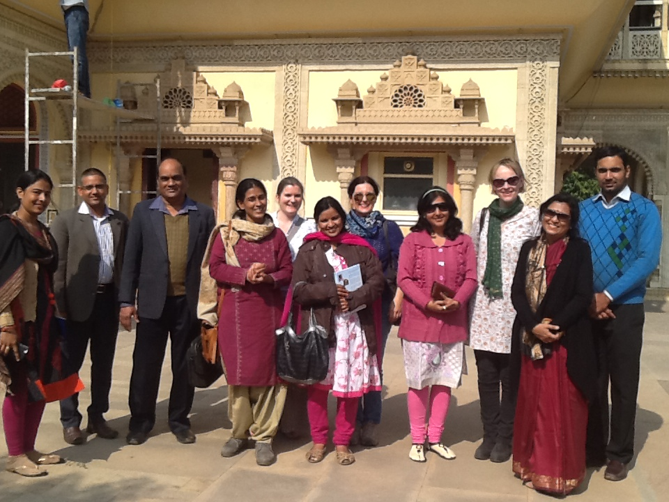 Researchers and staff at City Palace Museum, Jaipur